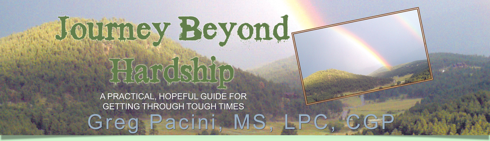 Journey Beyond Hardship by Greg Pacini, MS, LPC, CGP